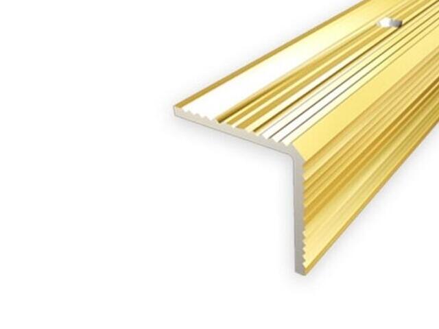 Listwa schodowa 20x20 ALU złoto 03 dł. 1,35m 1-07696-03-135 Aspro