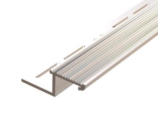 Listwa schodowa kątownik 10x12 ALU surowe dł. 2,5m 6-00615-00-250 Aspro