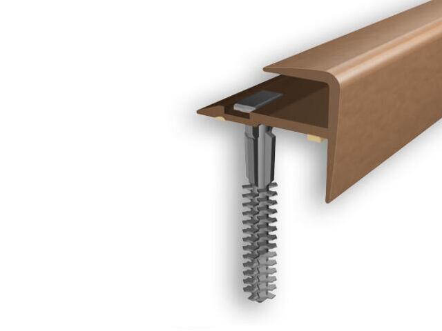 Listwa schodowa typ f PVC olcha 4E dł. 1m D-K0600-4E-100 Myck