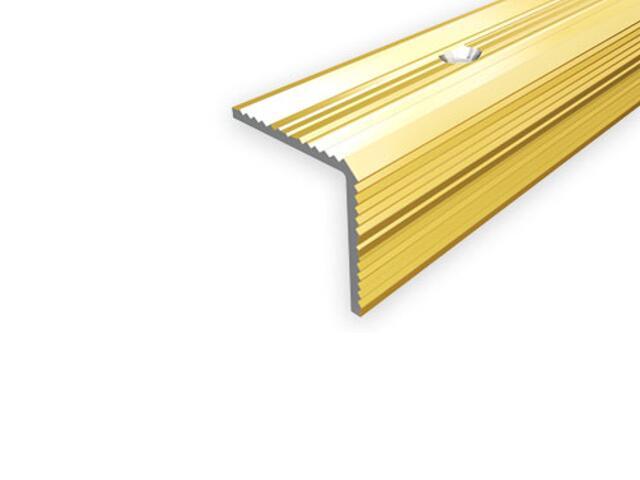 Listwa schodowa 30x30 ALU złoto 03 dł. 0,9m E-E0900-03-090 Borck