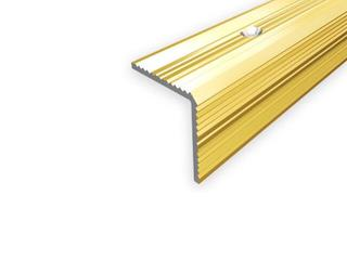 Listwa schodowa 30x30 ALU złoto 03 dł. 1,8m E-E0900-03-180 Borck