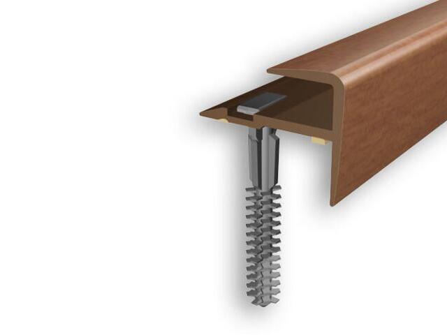 Listwa schodowa typ f PVC czereśnia 8E dł. 1m D-K0600-8E-100 Myck