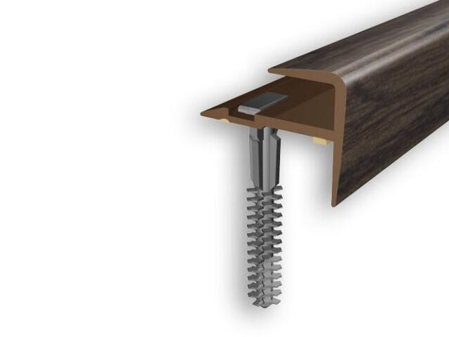 Listwa schodowa typ f PVC wenge 0P dł. 1m D-K0600-0P-100 Myck