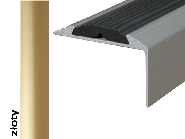 Listwa schodowa Effect Standard A38 z wkładką antypoślizgową złoto 360cm Effector
