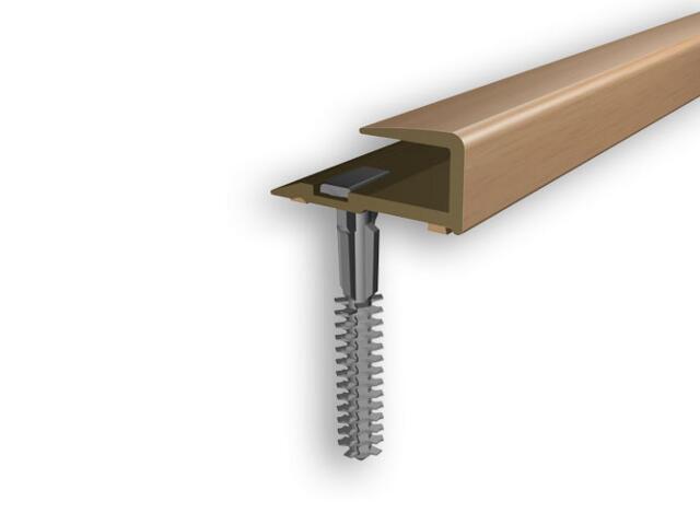 Listwa zakończeniowa 16x25x8 PVC buk 0E dł. 1m D-Z0200-0E-100 Myck