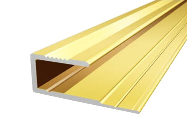 Listwa zakończeniowa 16x8 ALU złoto 03 dł. 0,9m E-E0700-03-090 Borck