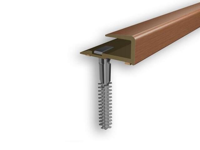 Listwa zakończeniowa 16x25x8 PVC czereśnia 8E dł. 1m D-Z0200-8E-100 Myck
