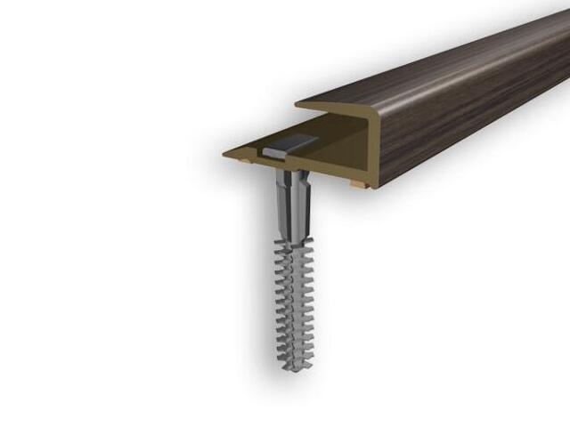 Listwa zakończeniowa 16x25x8 PVC wenge 0P dł. 1m D-Z0200-0P-100 Myck
