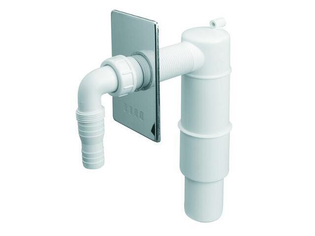 Podłączenie do pralki/zmywarki podt. z odejściem 50mm mask. chrom (HCWM50) McAlpine