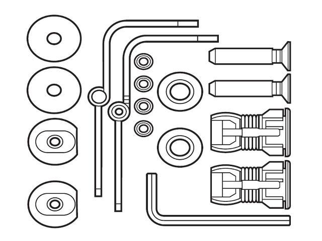 Zawiasy i uchwyty montażowe pokrywy bidetowej DAMA SENSO COMPACTO & SQUARE A802910560 Roca
