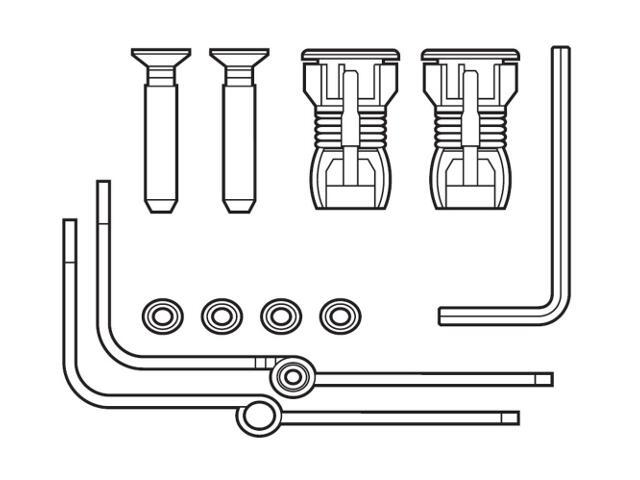 Zawiasy i uchwyty montażowe pokrywy bidetowej DAMA SENSO; AMERICA A802910210 Roca