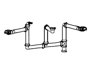 Kształtka łącząca 3 komory do Planar PPX 610-58 PPX 610-44 Franke