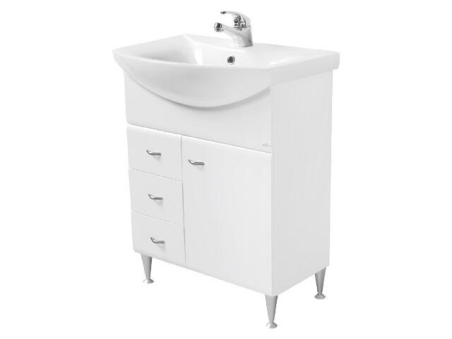 Zestaw szafka IBIZA biała (S504-010) z umywalką meblową OMEGA 65 (K11-0003)