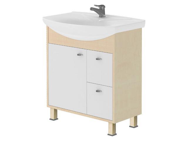 Zestaw szafka CATANIA grusza (S502-011) z umywalką meblową SICILIA 75 (K11-0005)