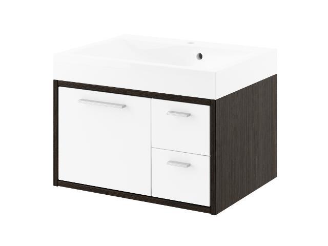 Szafka podumywalkowa RIO 60 legno ciemne/biały 0401-411601 Aquaform