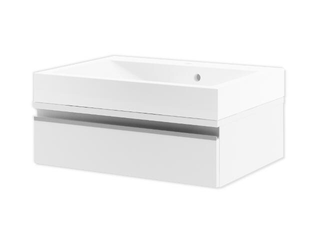 Szafka podumywalkowa PORTOFINO 60 z szufladą biały 0401-240102 Aquaform