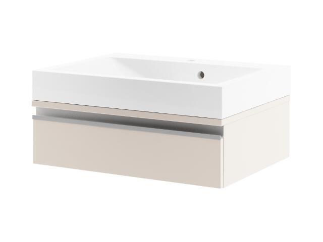 Szafka podumywalkowa PORTOFINO 60 z szufladą cappuccino 0401-242702 Aquaform