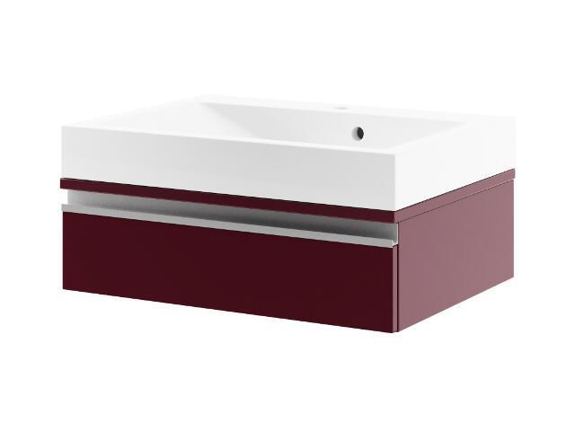 Szafka podumywalkowa PORTOFINO 60 z szufladą bordo 0401-242502 Aquaform