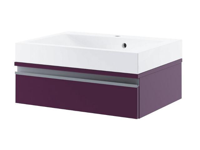 Szafka podumywalkowa PORTOFINO 60 z szufladą fiolet 0401-242802 Aquaform