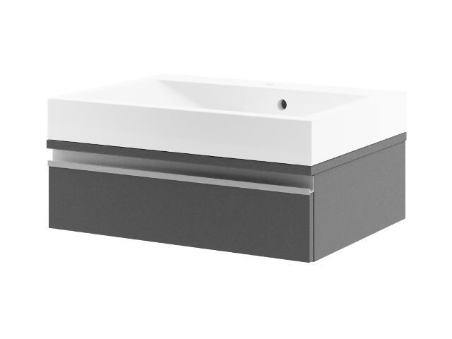 Szafka podumywalkowa PORTOFINO 60 z szufladą antracyt 0401-242002 Aquaform