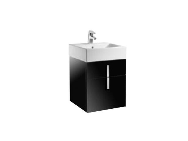 Szafka podumywalkowa Diverta z dwoma szufladami 45,3x42,5x51cm czarny A856460020 Roca