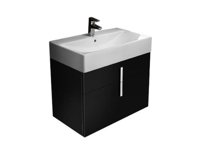 Szafka podumywalkowa Diverta z dwoma szufladami 73x42,5x51cm czarny A856461020 Roca