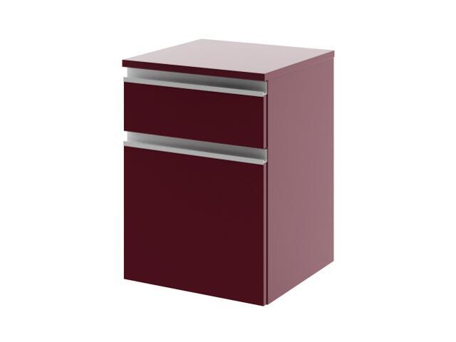 Szafka łazienkowa wisząca PORTOFINO z szufladami bordo 0411-242503 Aquaform
