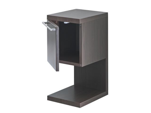 Szafka łazienkowa wisząca HALL z półką 27x56,5x33,5cm drzwiczki wenge A856435601 Roca