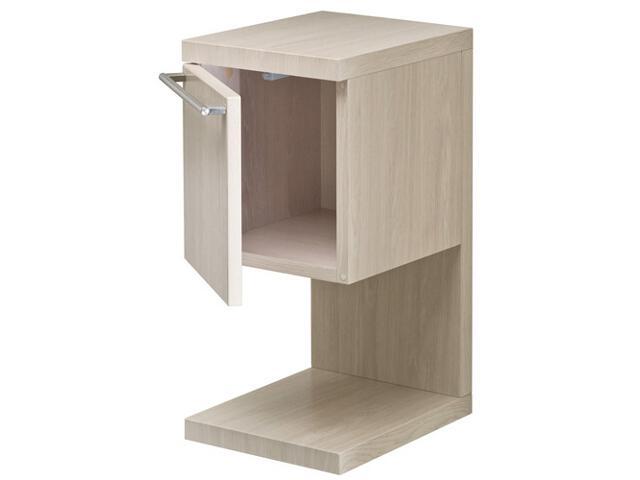 Szafka łazienkowa wisząca HALL z półką 27x56,5x33,5cm drzwiczki dąb bielony A856435611 Roca