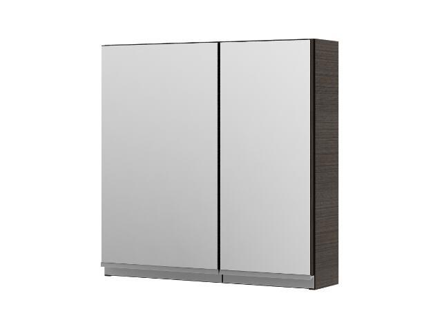 Szafka łazienkowa wisząca z lustrem PORTOFINO legno ciemne 0408-241601 Aquaform