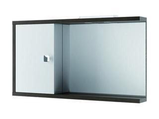 Szafka łazienkowa wisząca z lustrem CHICAGO 100 L legno ciemne +halogeny 0408-591601 Aquaform