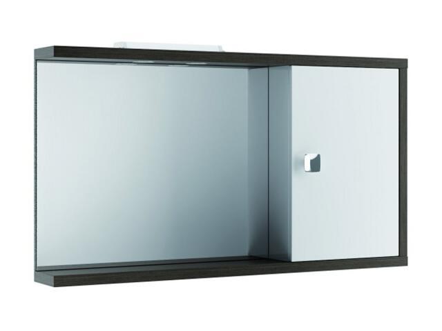 Szafka łazienkowa wisząca z lustrem CHICAGO 100 P legno ciemne + halogeny 0408-591602 Aquaform