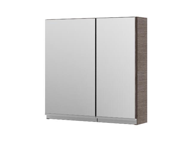 Szafka łazienkowa wisząca z lustrem PORTOFINO choco 0408-242401 Aquaform