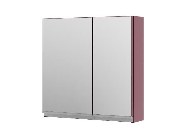Szafka łazienkowa wisząca z lustrem PORTOFINO bordo 0408-242501 Aquaform