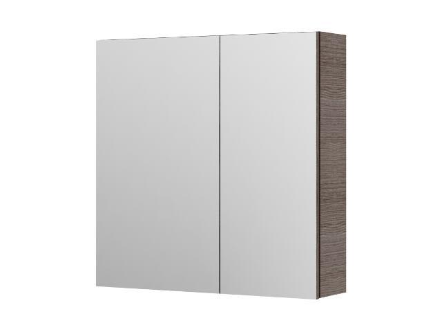 Szafka łazienkowa wisząca z lustrem AMSTERDAM 60 choco 0408-202411 Aquaform