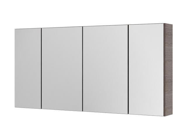 Szafka łazienkowa wisząca z lustrem AMSTERDAM 120 choco 0408-202412 Aquaform