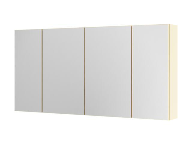 Szafka łazienkowa wisząca z lustrem AMSTERDAM 120 wanilia 0408-202612 Aquaform