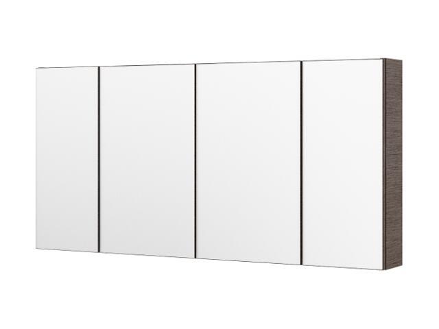 Szafka łazienkowa wisząca z lustrem CARMEN 120 choco 0408-512411 Aquaform