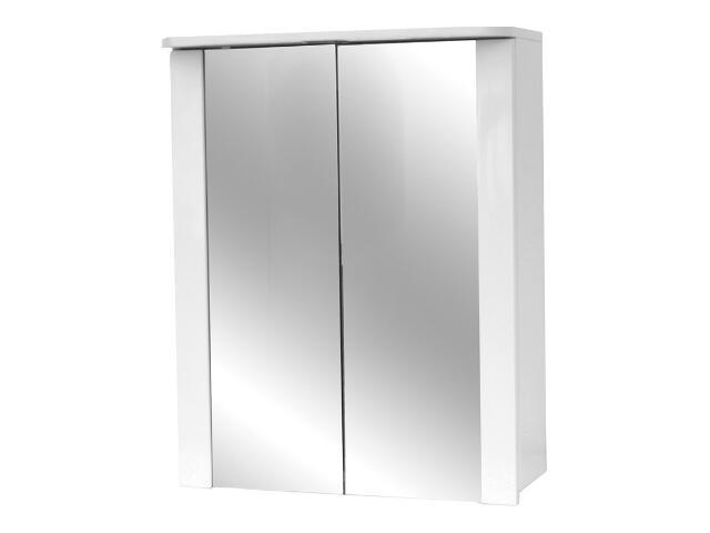 Szafka łazienkowa wisząca z lustrem BIANCO 50 z oświetleniem S509-034