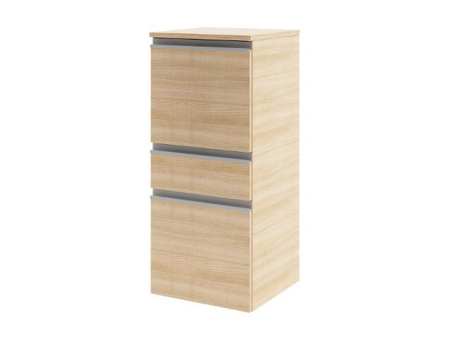Półsłupek PORTOFINO z drzwiami i szufladą lewy tabac cherry 0415-241901 Aquaform