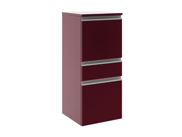 Półsłupek łazienkowy PORTOFINO z drzwiami i szufladą prawy bordo 0415-242502 Aquaform
