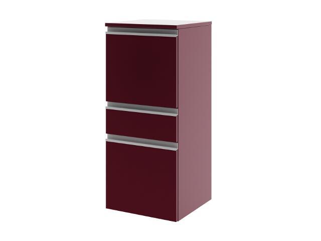 Półsłupek łazienkowy PORTOFINO z drzwiami i szufladą lewy bordo 0415-242501 Aquaform