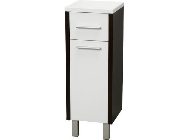 Półsłupek łazienkowy MADALENA z nóżkami wenge/biały A856242001 Roca Zoom