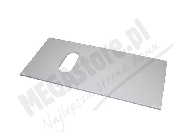 Blat do szafki DOMINO XL z wycięciem z boku 96x1,6x46cm biały połysk 89313000 Koło