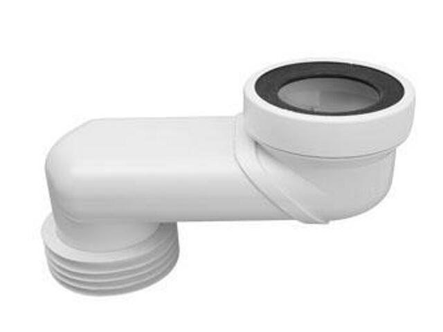 Złącze do WC krótkie 160mm 90-110/110mm mimośrodowe 180mm (WC-LO-18) McAlpine