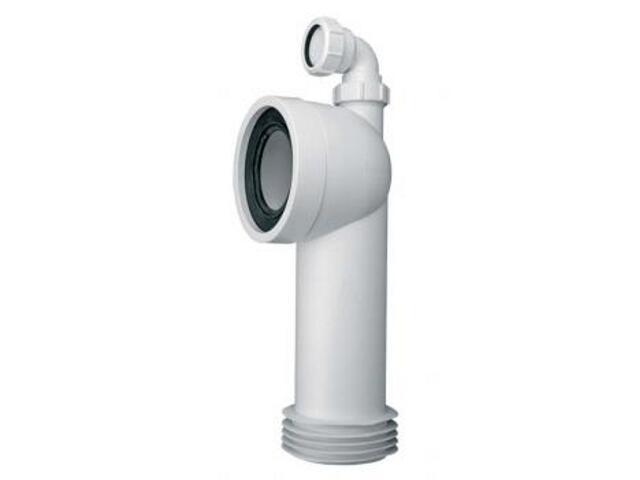 Złącze do WC długie 275mm 90-110/110mm kąt 90° z odejściem 40mm (WC-CON8D) McAlpine