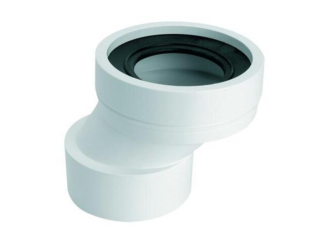 Złącze do WC krótkie 125mm 90-110/110mm mimośrodowe 40mm (WC-CON4B) McAlpine
