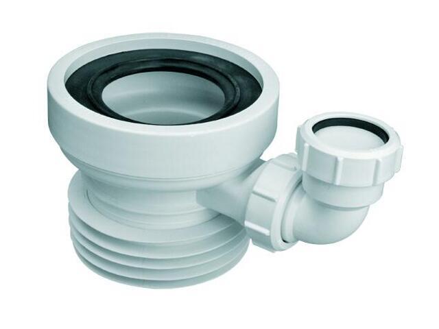Złącze do WC krótkie 120mm 90-110/110mm, proste z odejściem 40mm (WC-CON1D) McAlpine