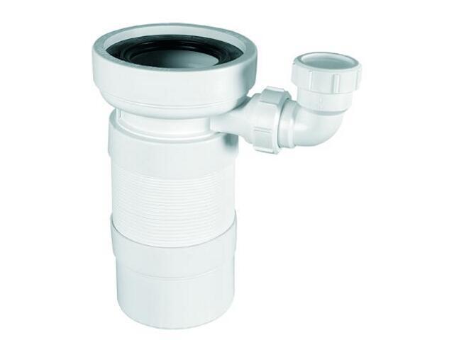 Złącze do WC harmonijkowe 270-540mm 90-110/110mm z podłączeniem 40mm (WC-F23PD) McAlpine