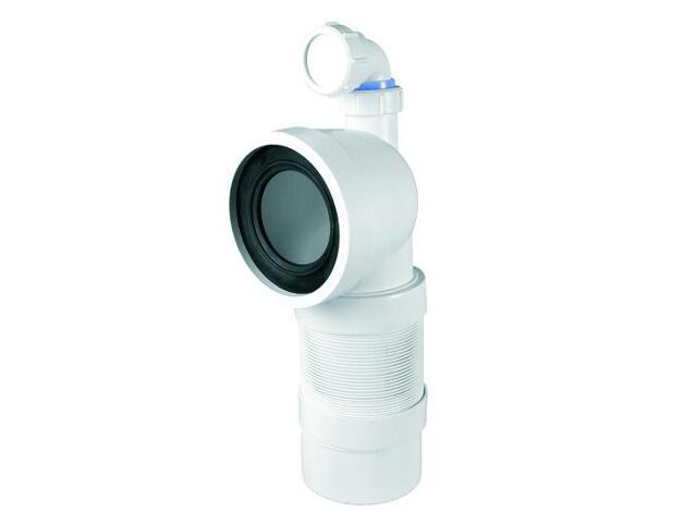 Złącze do WC harmonijkowe 270-540mm 90-110/110mm/90° z podł. 40mm (WC-CON9FD) McAlpine